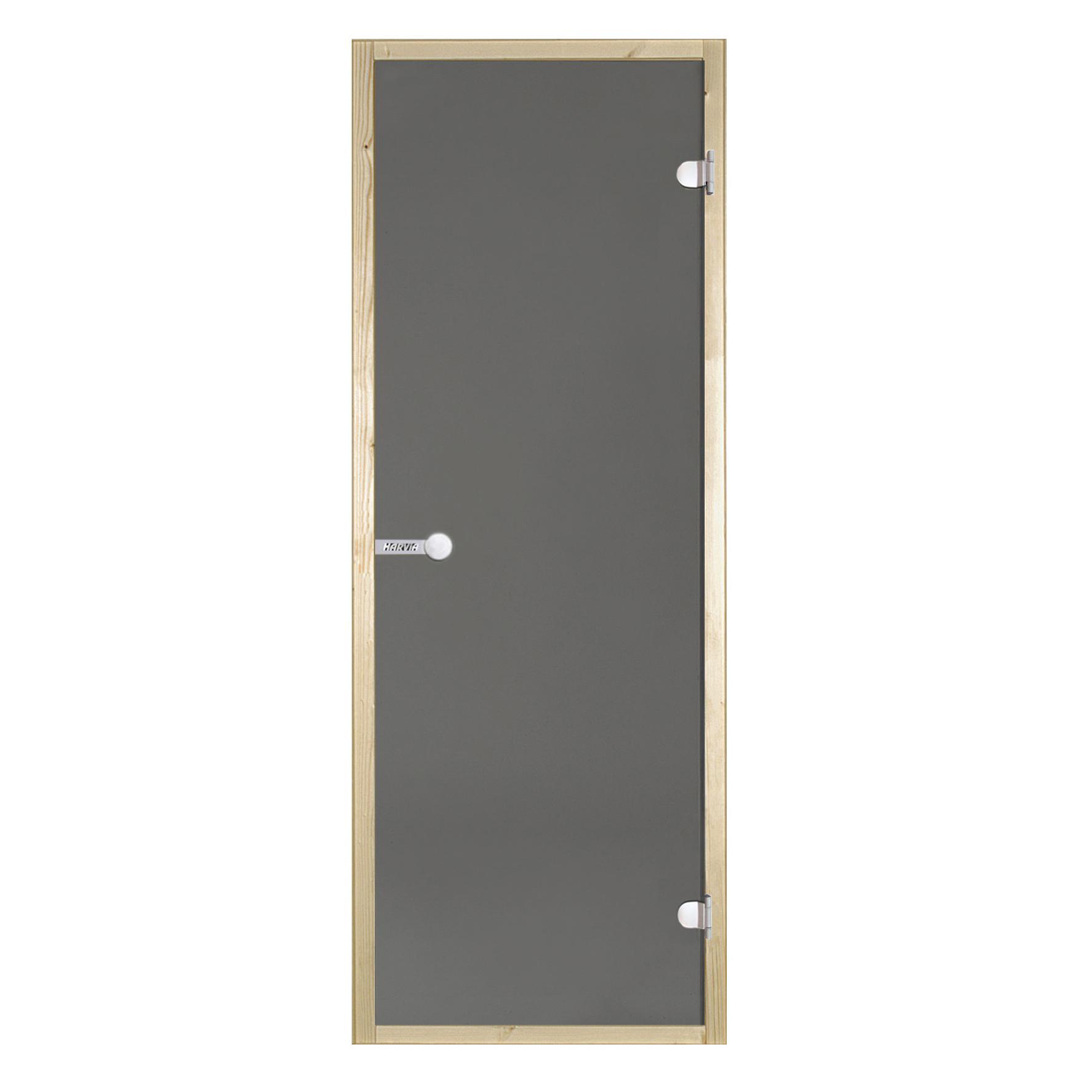 HARVIA Двери стеклянные 7/19 коробка ольха, серая D71902L