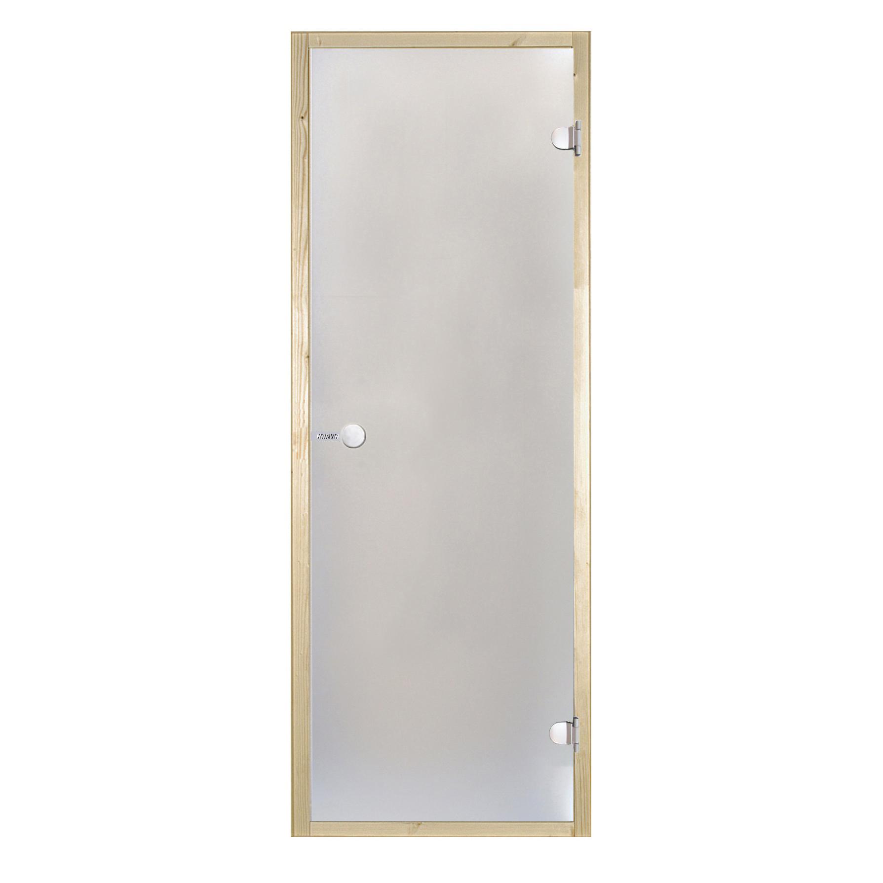 HARVIA Двери стеклянные 7/19 коробка осина, сатин D71905H