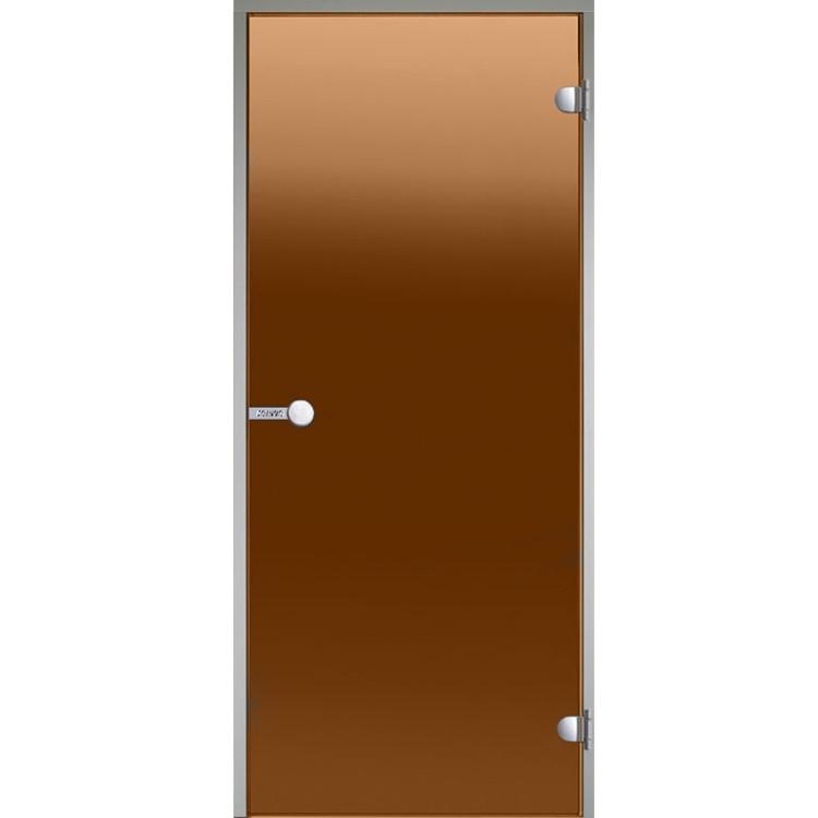 HARVIA Двери стеклянные 7/19 коробка алюминий, стекло бронза, арт. DA71901