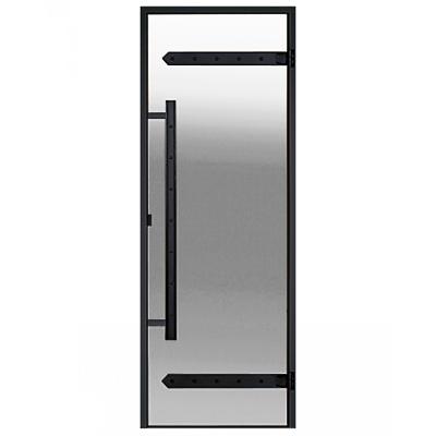 HARVIA Двери стеклянные LEGEND 8/19 черная коробка алюминий, стекло прозрачное, арт. DA81904L