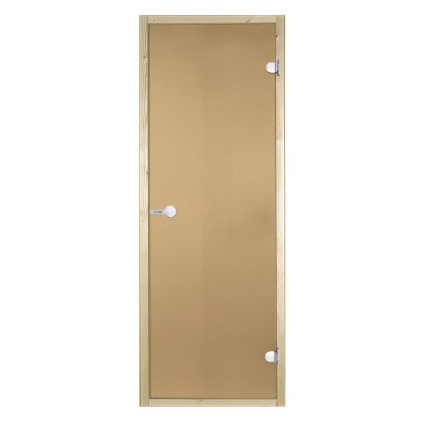 HARVIA Двери стеклянные 8/19 коробка сосна, сатин D81905M