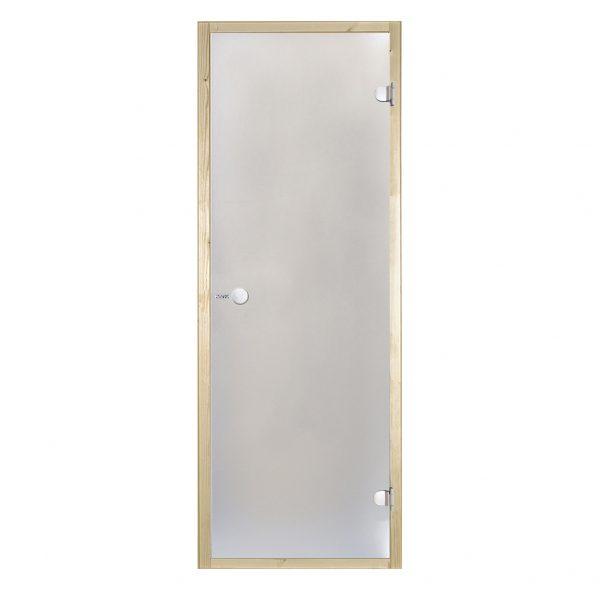 HARVIA Двери стеклянные 8/21 коробка осина, сатин D82105H