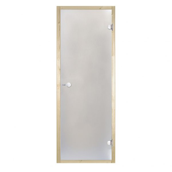 HARVIA Двери стеклянные 8/21 коробка ольха, сатин D82105L