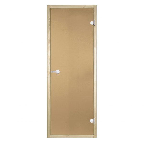 HARVIA Двери стеклянные 9/19 коробка ольха, бронза D91901L
