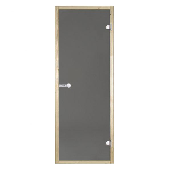 HARVIA Двери стеклянные 9/21 коробка ольха, серая D92102L