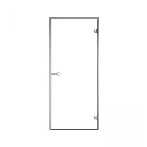 HARVIA Двери стеклянные 7/19 коробка алюминий, стекло прозрачное, арт. DA71904