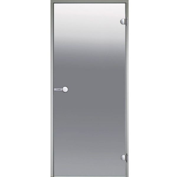 HARVIA Двери стеклянные 7/19 коробка алюминий, стекло сатин, арт. DA71905