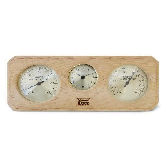 SAWO Термогигрометр с часами вне сауны, арт. 260-ТНD
