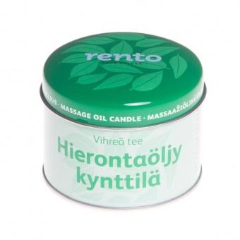 RENTO Свеча с массажным маслом, зеленый чай