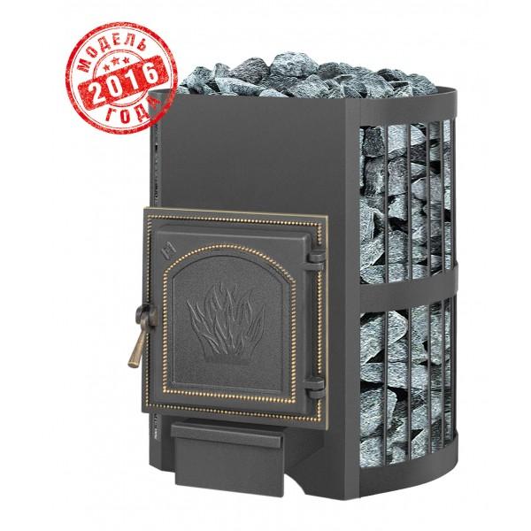 Дровяная печь для бани Везувий Скиф Стандарт 16 (271) без выносного тоннеля 2016